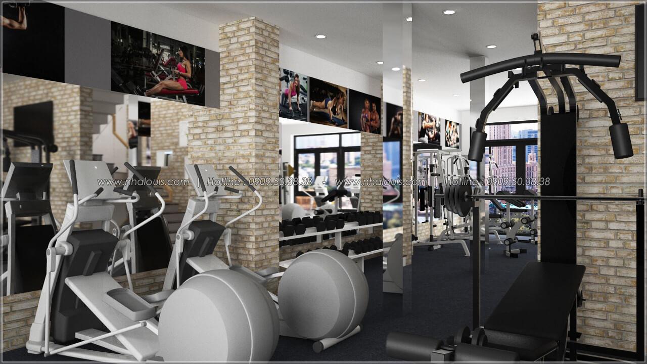 Phòng gym thiết kế quán cafe đơn giản từ nhà phố 3 tầng tại Bình Chánh - 19