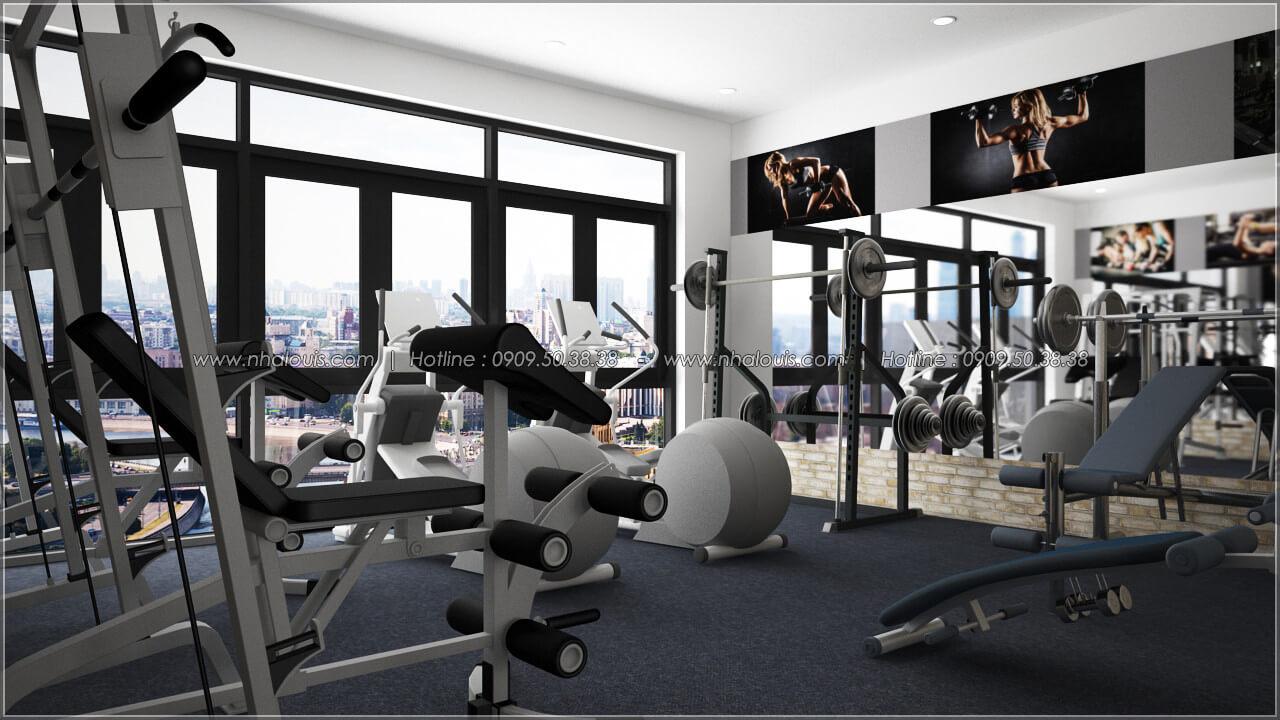 Phòng gym thiết kế quán cafe đơn giản từ nhà phố 3 tầng tại Bình Chánh - 20