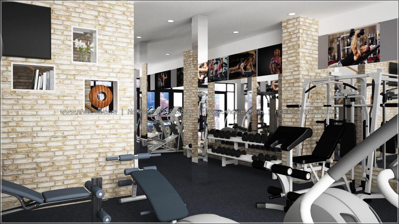 Phòng gym thiết kế quán cafe đơn giản từ nhà phố 3 tầng tại Bình Chánh - 21