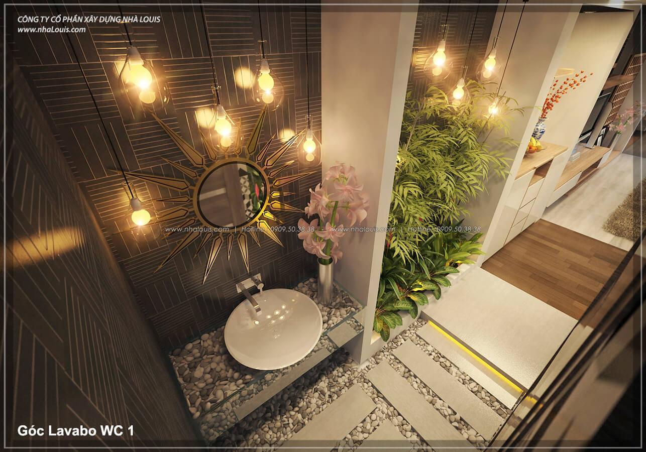 Phòng khách không gian xanh trong nhà tại Quận 7 - 17