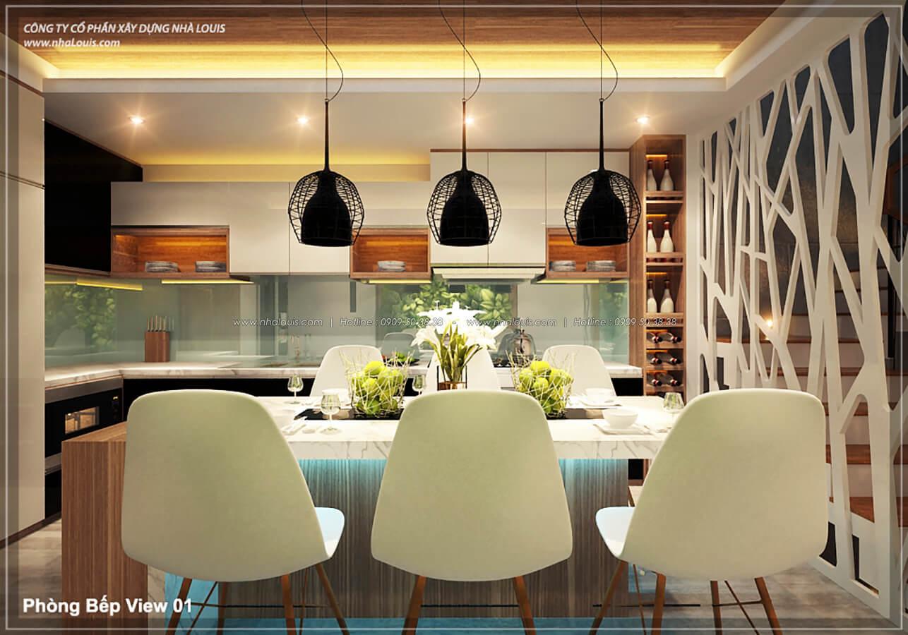 Phòng bếp phòng ăn không gian xanh trong nhà tại Quận 7 - 19