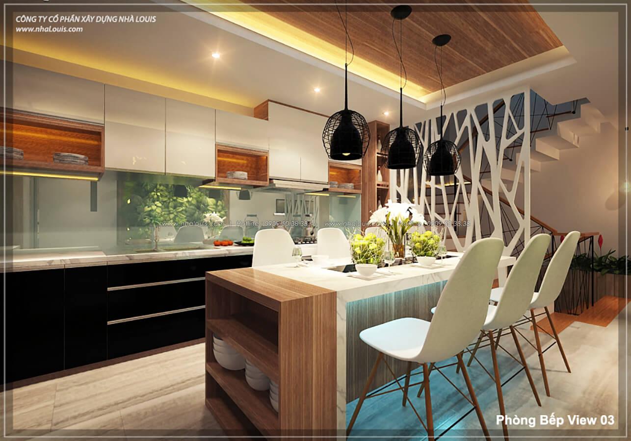 Phòng bếp phòng ăn không gian xanh trong nhà tại Quận 7 - 21