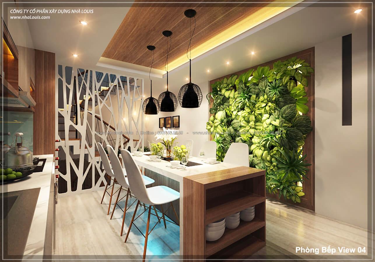 Phòng bếp phòng ăn không gian xanh trong nhà tại Quận 7 - 22