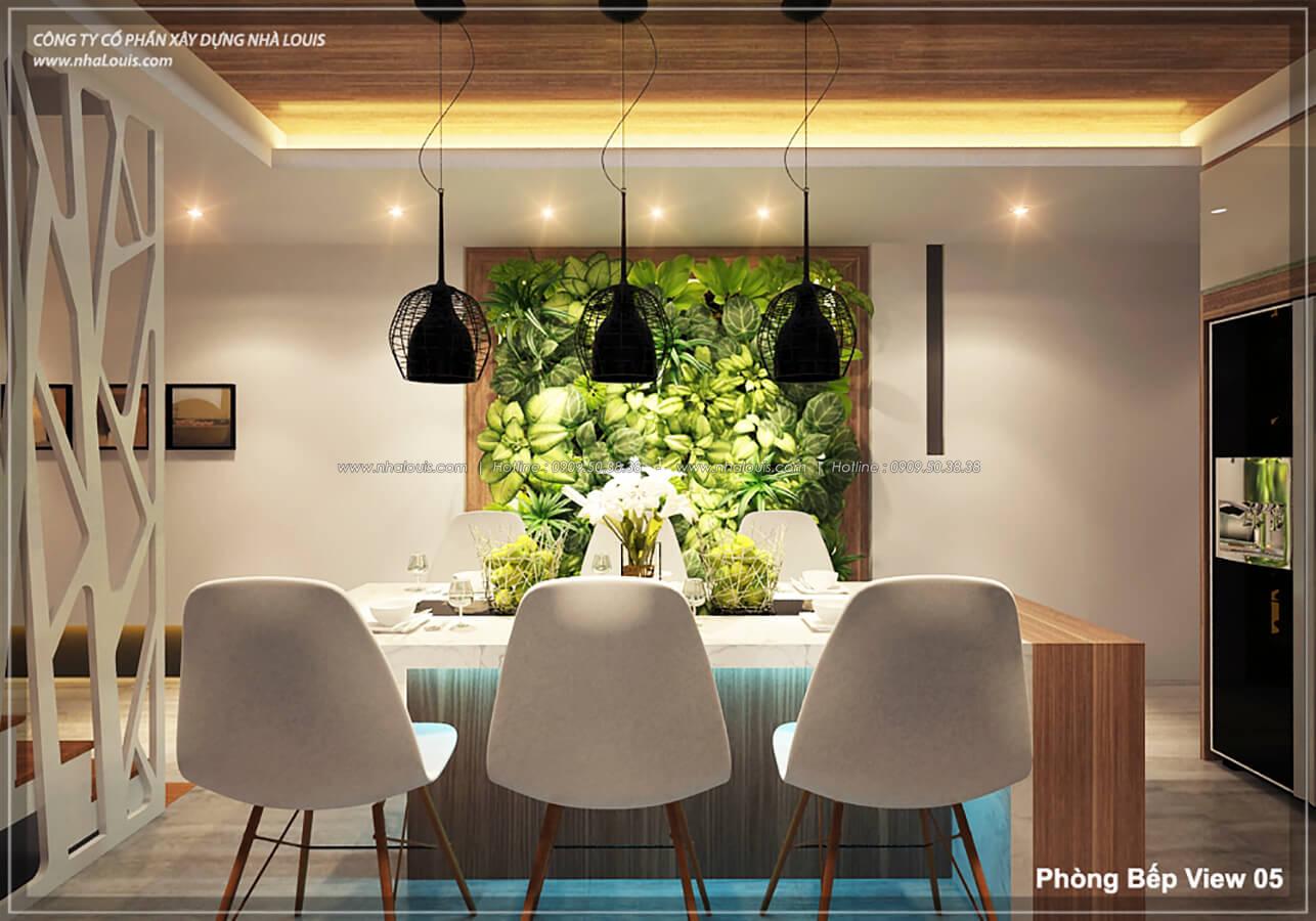 Phòng bếp phòng ăn không gian xanh trong nhà tại Quận 7 - 23