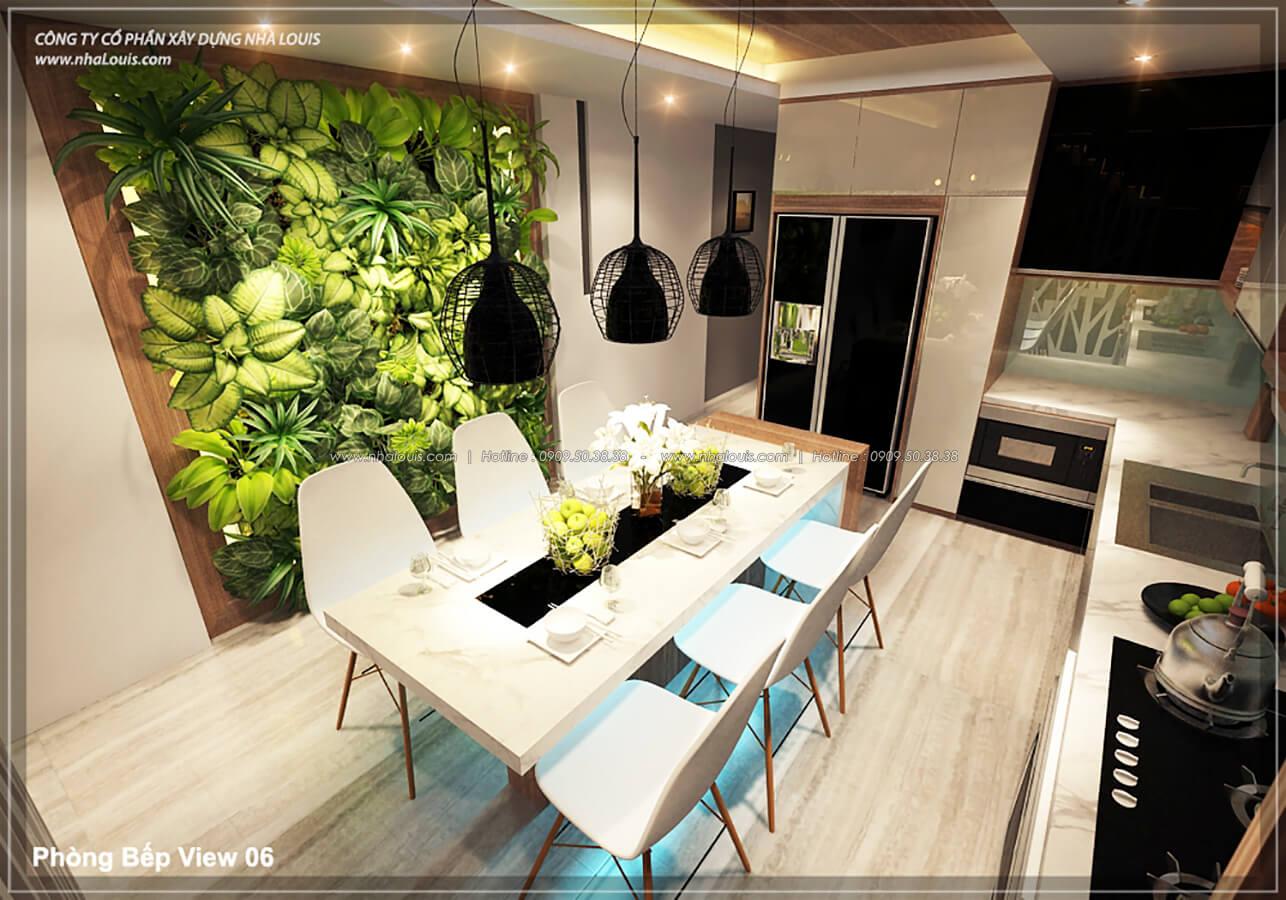 Phòng bếp phòng ăn không gian xanh trong nhà tại Quận 7 - 24
