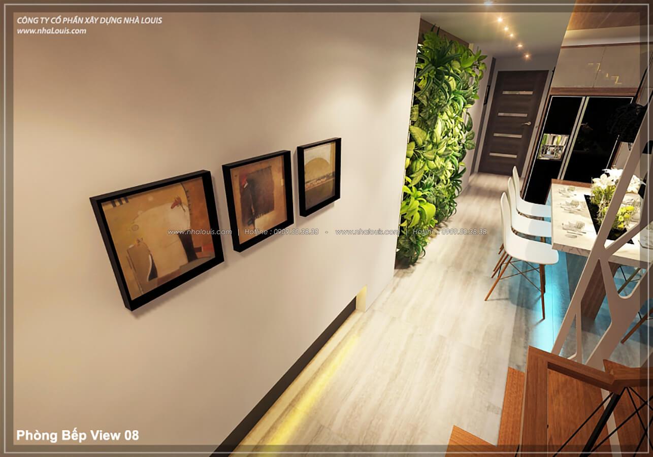 Phòng bếp phòng ăn không gian xanh trong nhà tại Quận 7 - 26