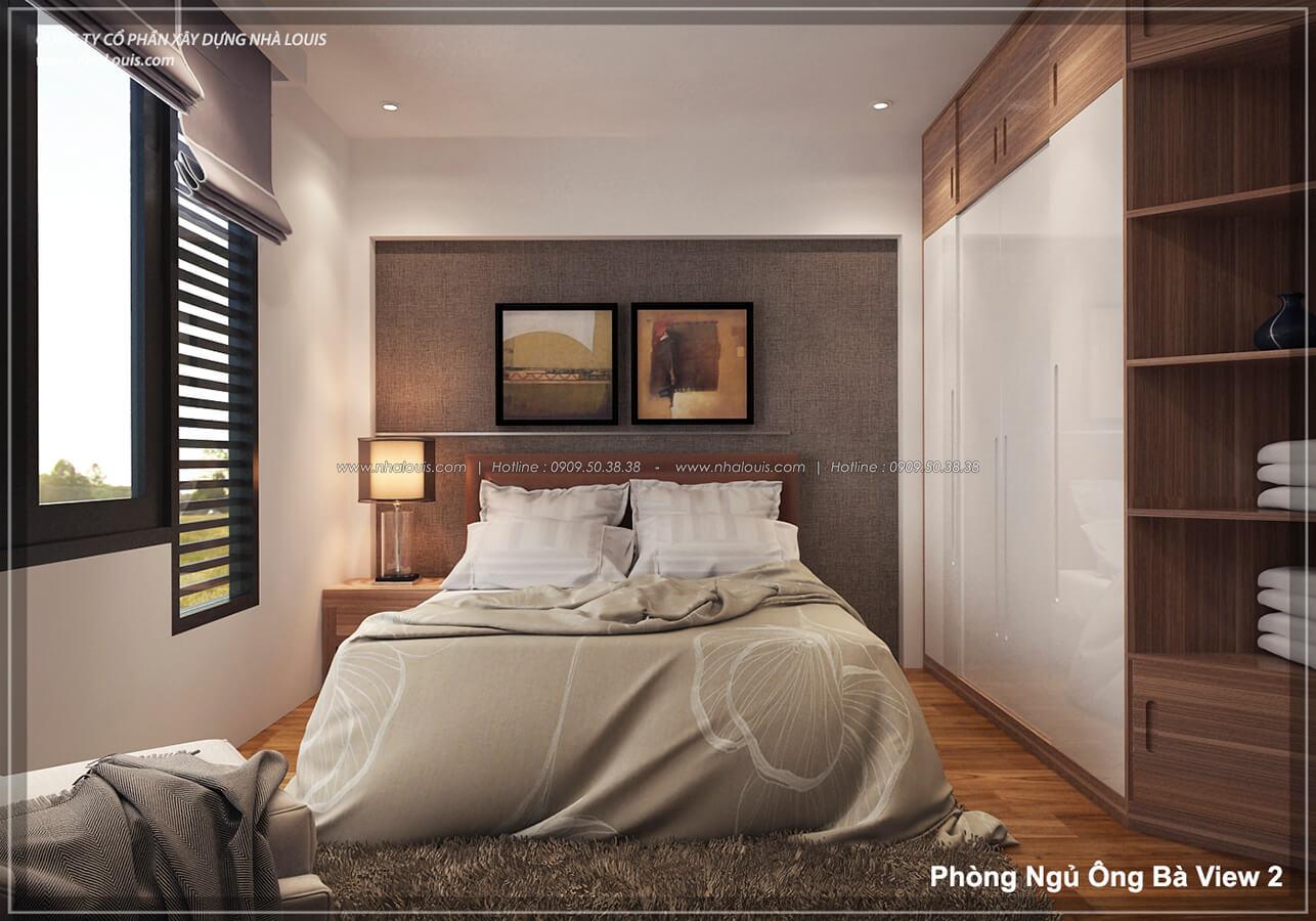Phòng ngủ ông bà không gian xanh trong nhà tại Quận 7 - 27
