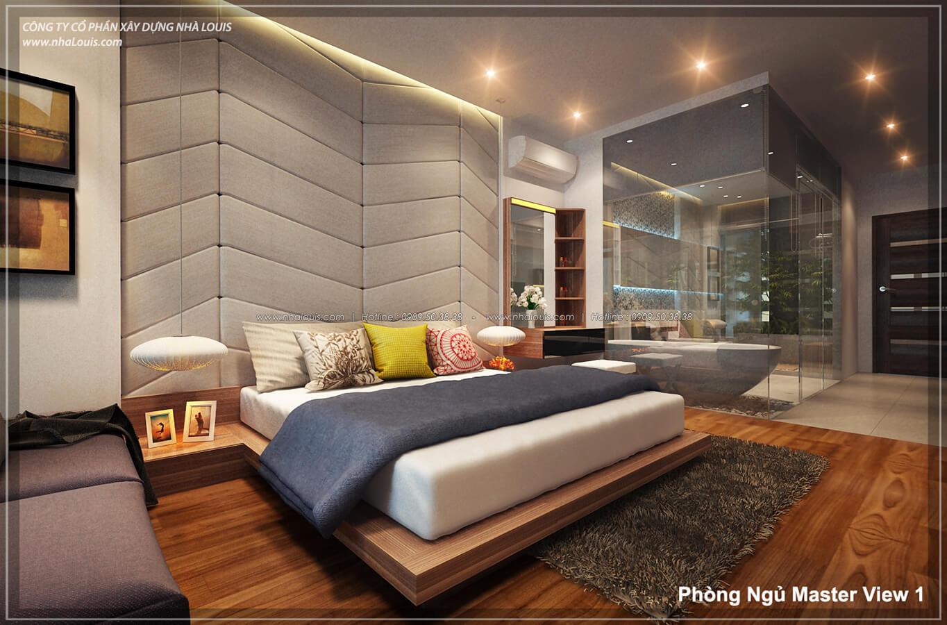 Phòng ngủ master không gian xanh trong nhà tại Quận 7 - 32