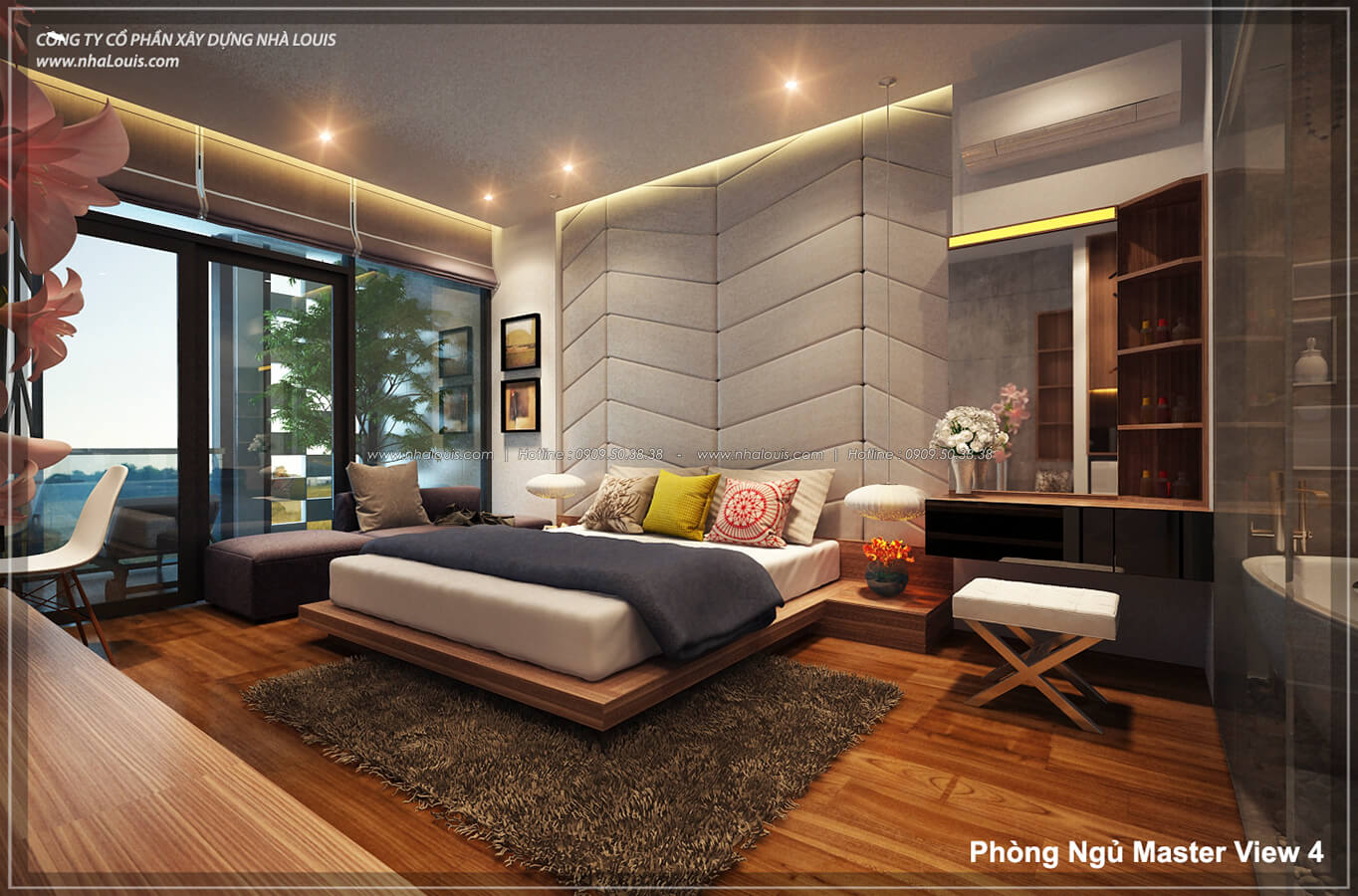Phòng ngủ master không gian xanh trong nhà tại Quận 7 - 33