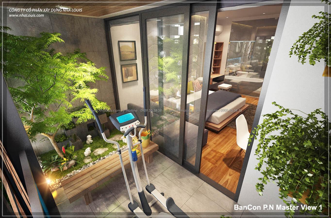 ban công với không gian xanh trong nhà tại Quận 7 - 37