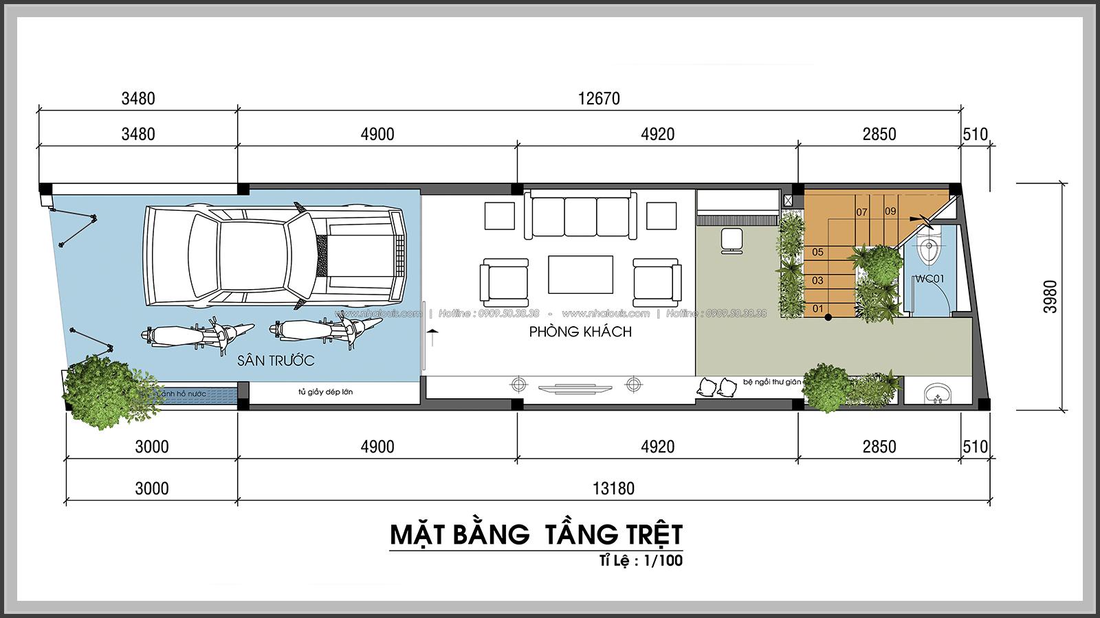 Hòa nhịp cùng thiên nhiên với thiết kế nhà phố hiện đại 4x13m tại Quận 7 - 4