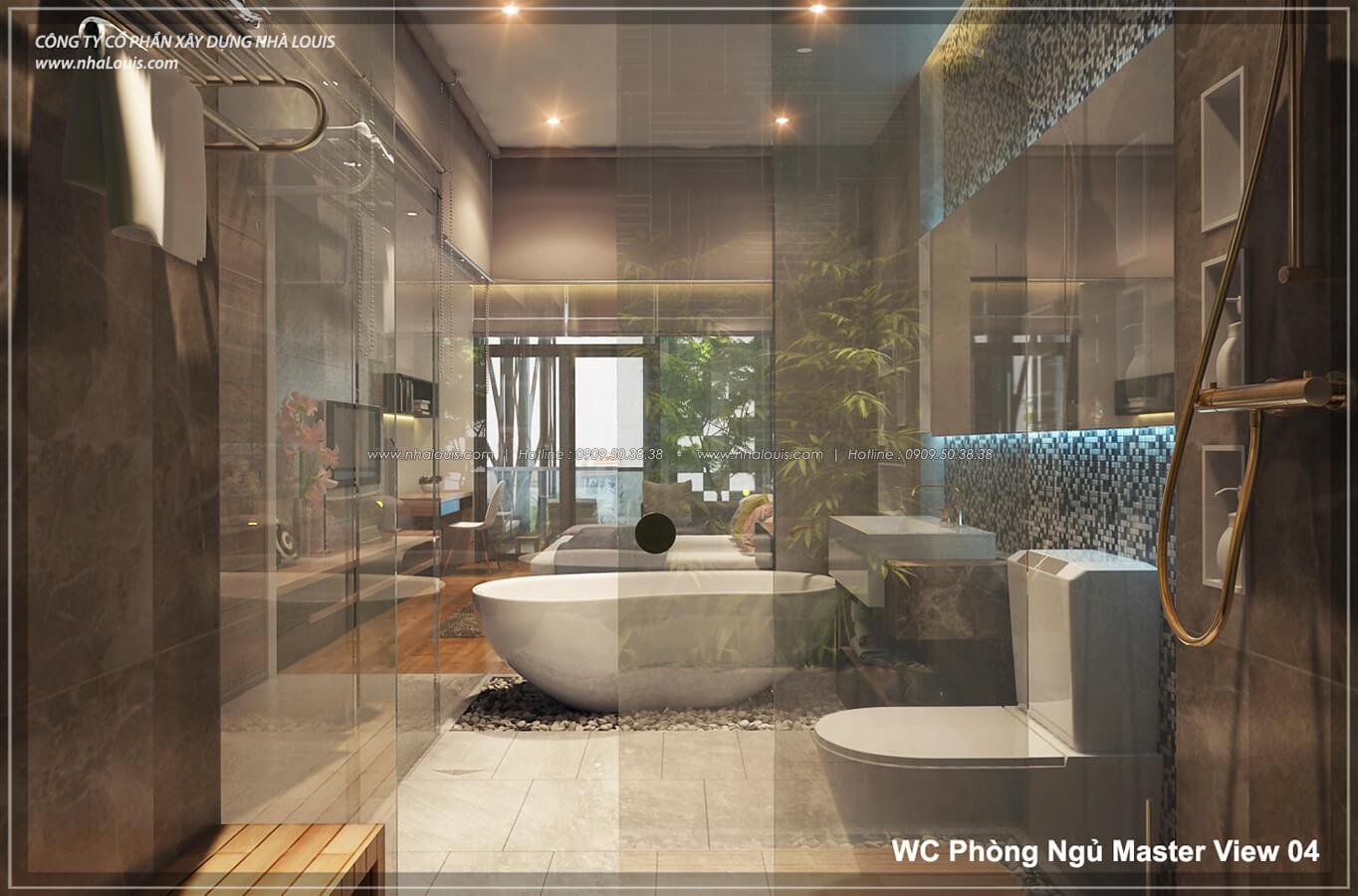 Phòng tắm với không gian xanh trong nhà tại Quận 7 - 42