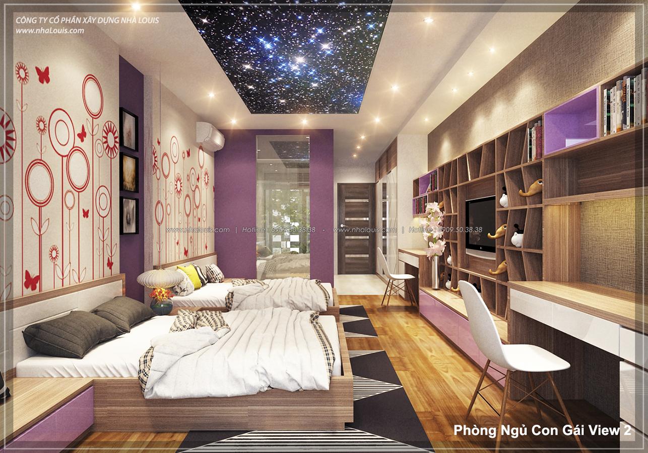 Phòng ngủ thiết kế nhà phố hiện đại