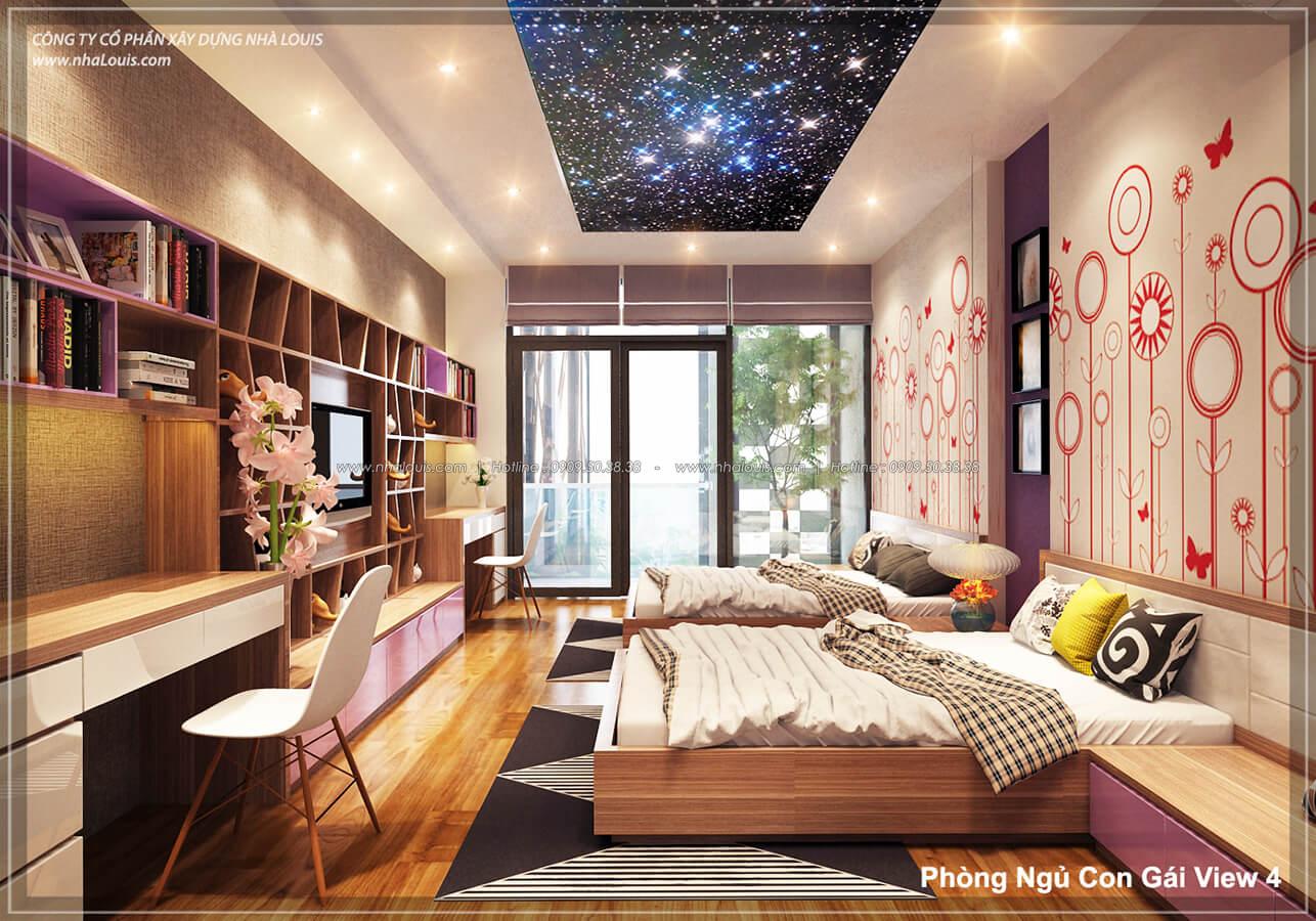 Phòng ngủ không gian xanh trong nhà tại Quận 7 - 47