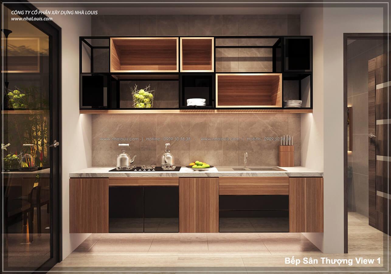 Phòng bếp không gian xanh trong nhà tại Quận 7 - 54