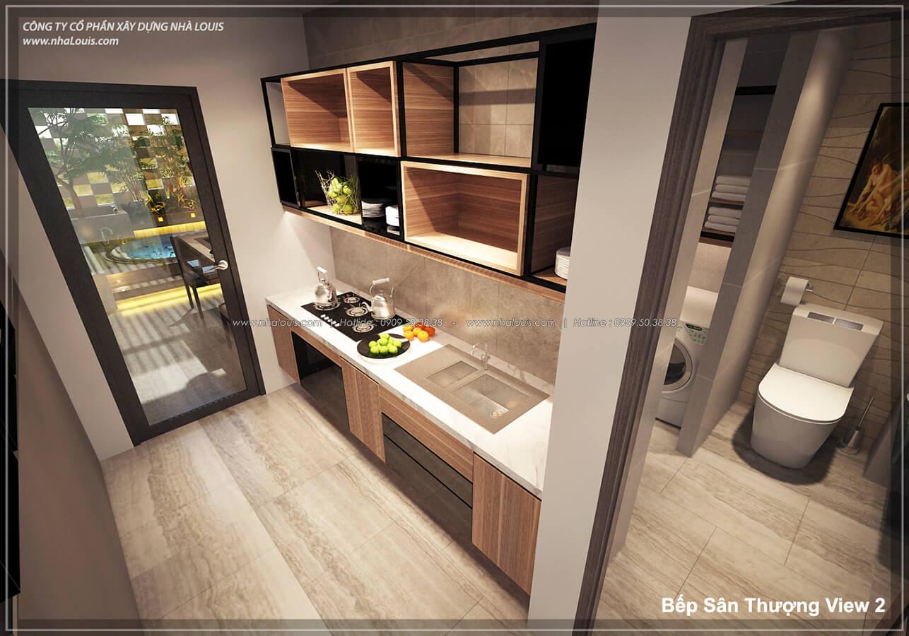 Phòng bếp không gian xanh trong nhà tại Quận 7 - 55