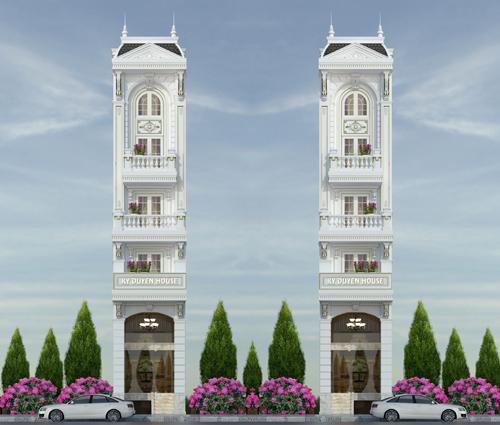 Khó cưỡng trước vẻ đẹp của nhà phố tân cổ điển mặt tiền 4m ở Tân Bình