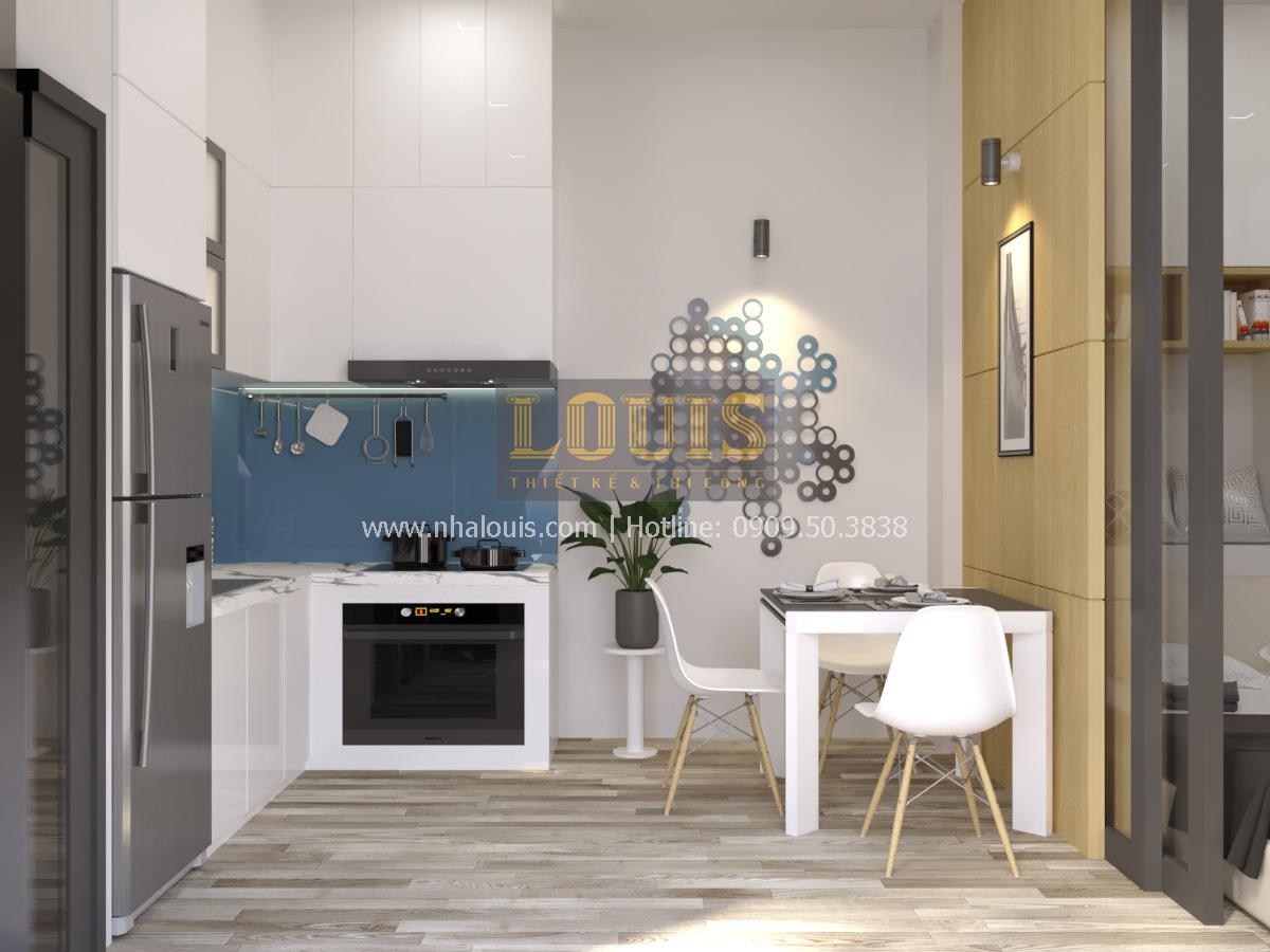 Phòng bếp phòng ăn thiết kế nhà phố 2 mặt tiền