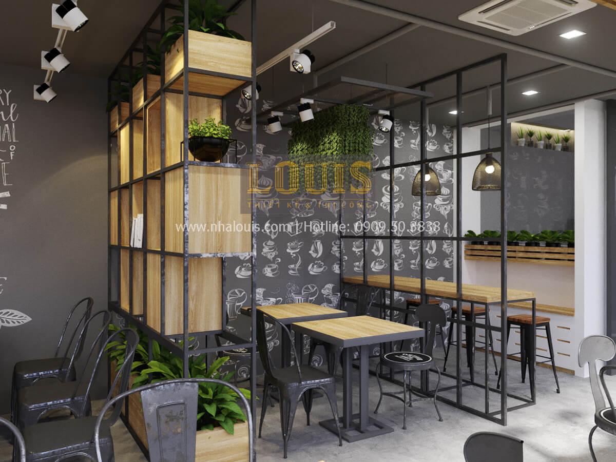 Phối cảnh 3D thiết kế quán cà phê phong cách hiện đại