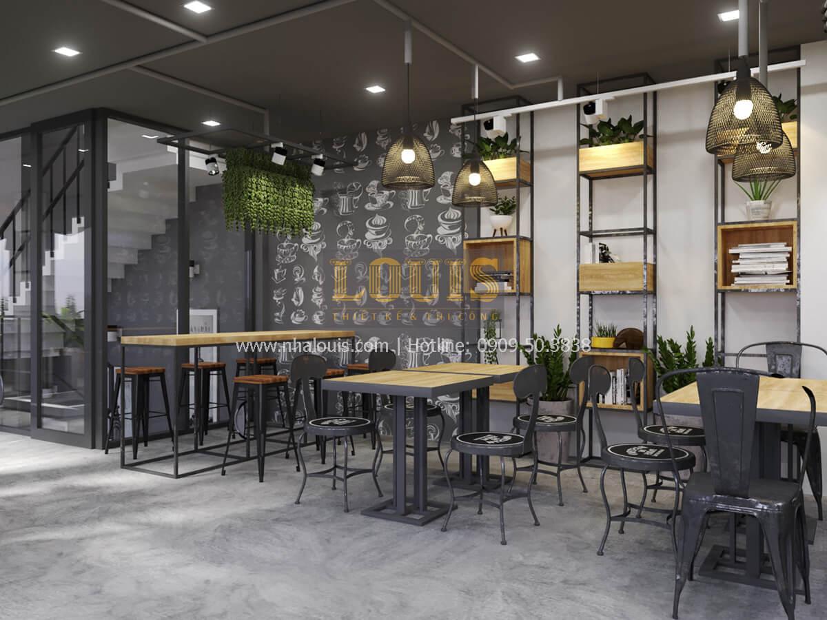 Phối cảnh 3D thiết kế quán cafe phong cách hiện đại
