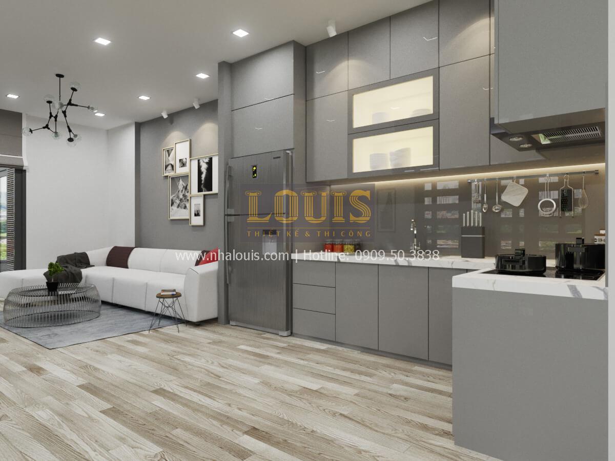 Phòng bếp thiết kế nhà 2 mặt tiền
