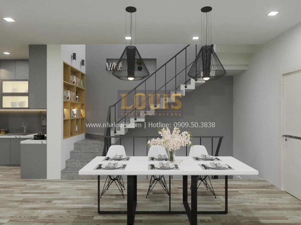 Phòng ăn thiết kế nhà 2 mặt tiền