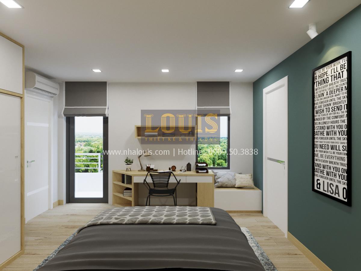 Phòng ngủ thiết kế nhà phố 2 mặt tiền