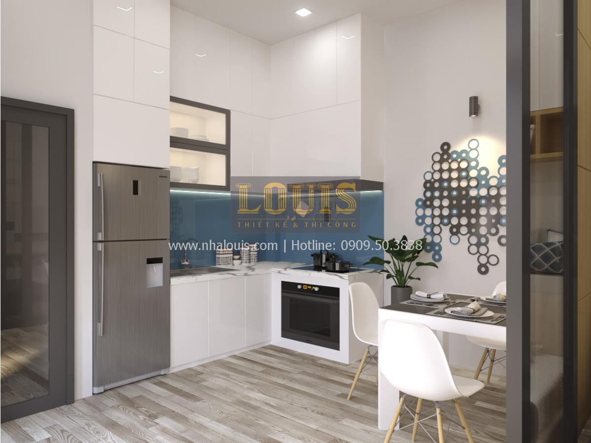 Phối cảnh 3D phòng bếp phòng ăn thiết kế quán cafe