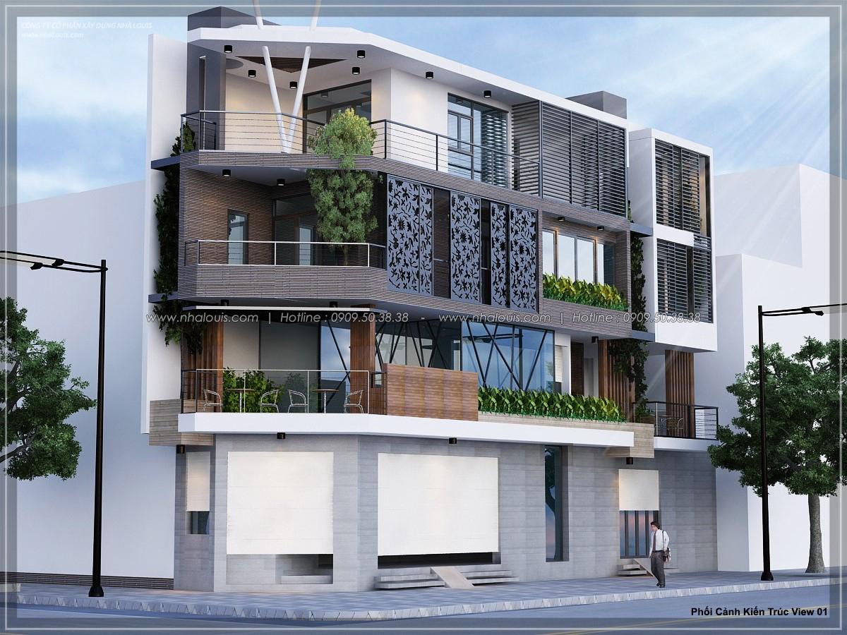 Thiết kế nhà phố 2 mặt tiền kết hợp kinh doanh cafe tại Quận 7 [Video]