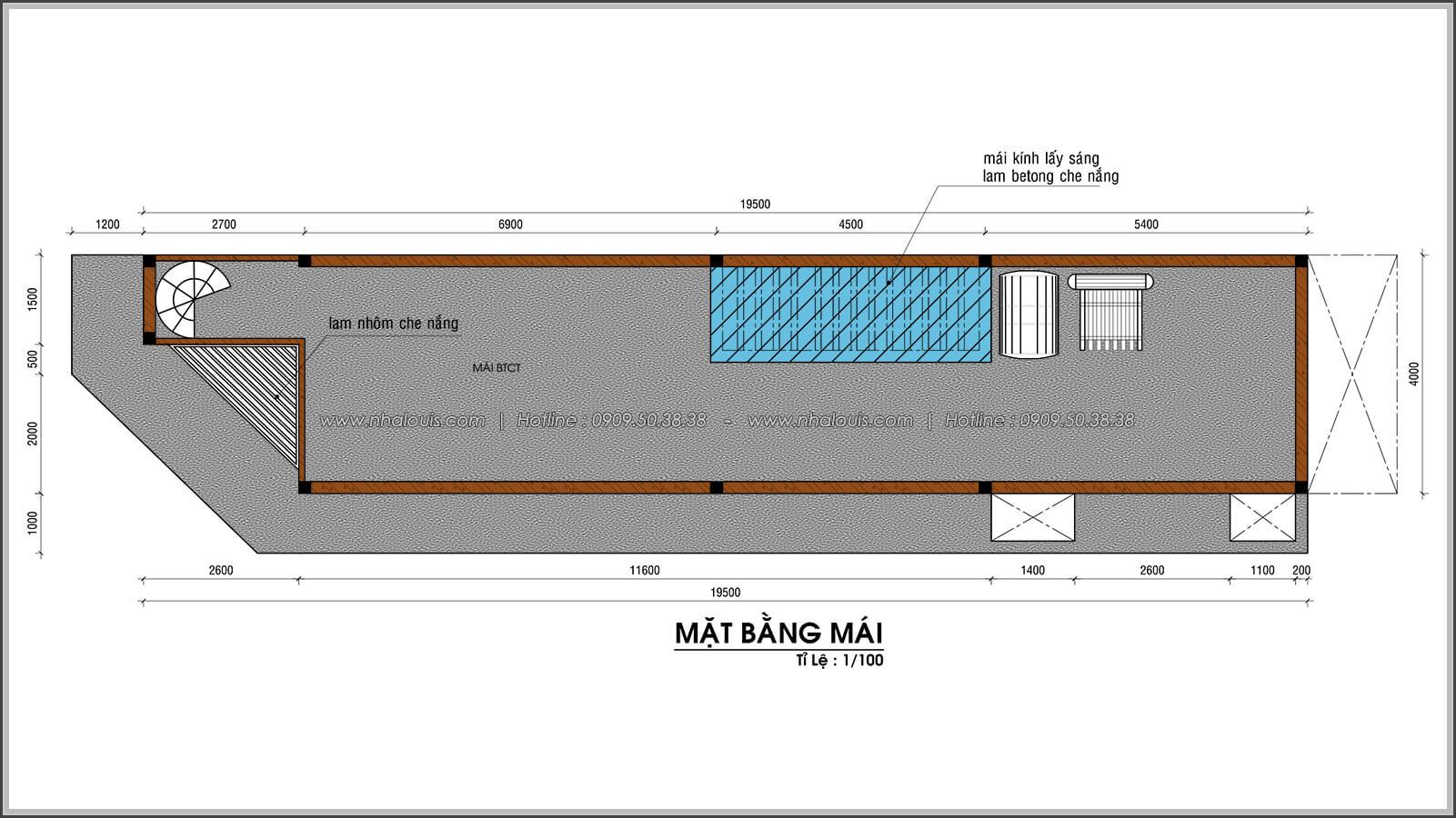 mái thiết kế nhà 2 mặt tiền