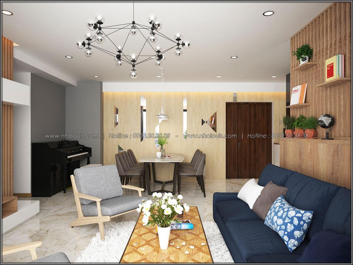 Phòng khách Mê đắm thiết kế nội thất chung cư 2 phòng ngủ sang trọng tại Green Valley Quận 7 - 02