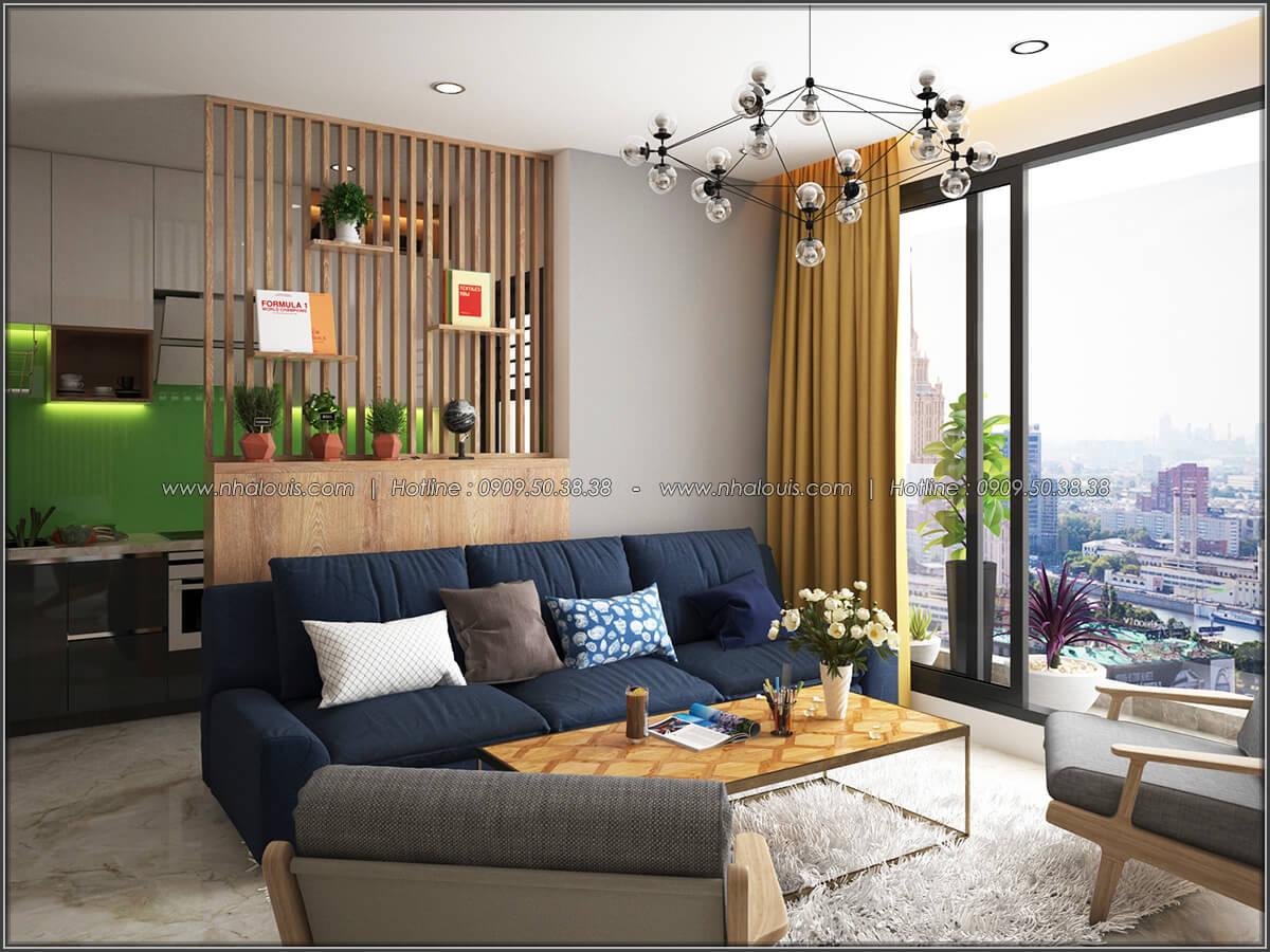 Phòng khách Mê đắm thiết kế nội thất chung cư 2 phòng ngủ sang trọng tại Green Valley Quận 7 - 04