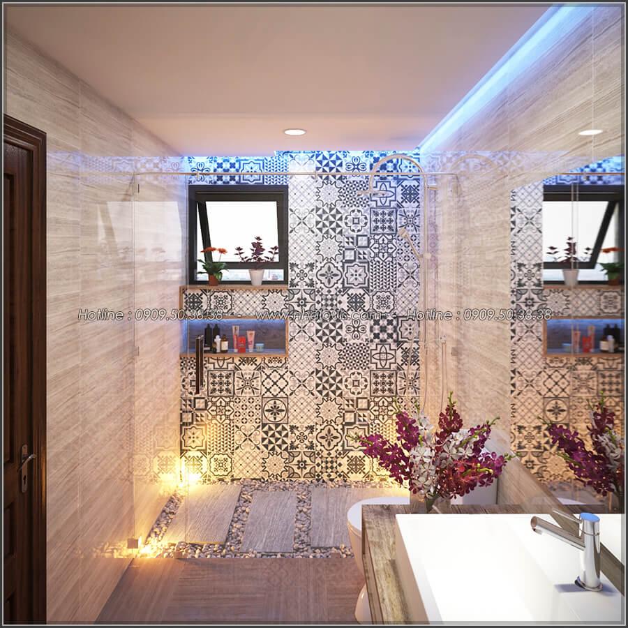 Phòng tắm và WC Mê đắm thiết kế nội thất chung cư 2 phòng ngủ sang trọng tại Green Valley Quận 7 - 11