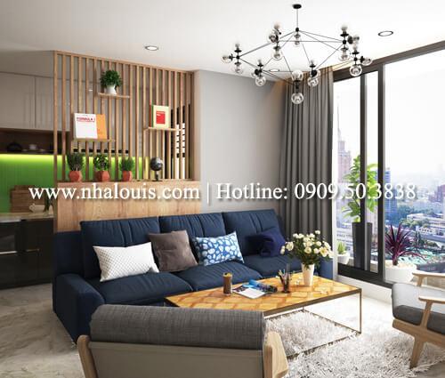 Thiết kế nội thất chung cư 2 phòng ngủ tại Green Valley Quận 7