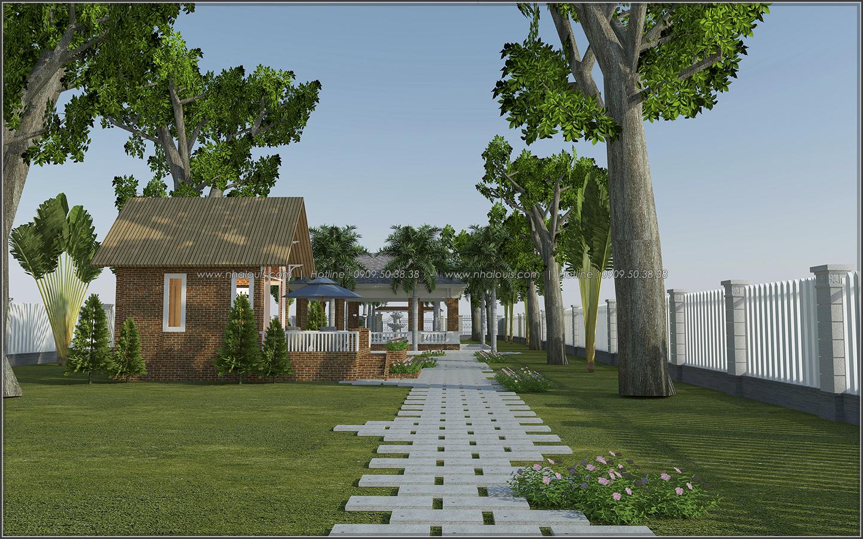 Mê mẩn với thiết kế nhà vườn đẹp xanh mát tại Bến Tre - 05