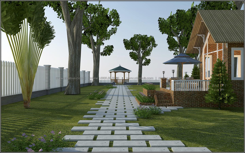 Mê mẩn với thiết kế nhà vườn đẹp xanh mát tại Bến Tre - 06