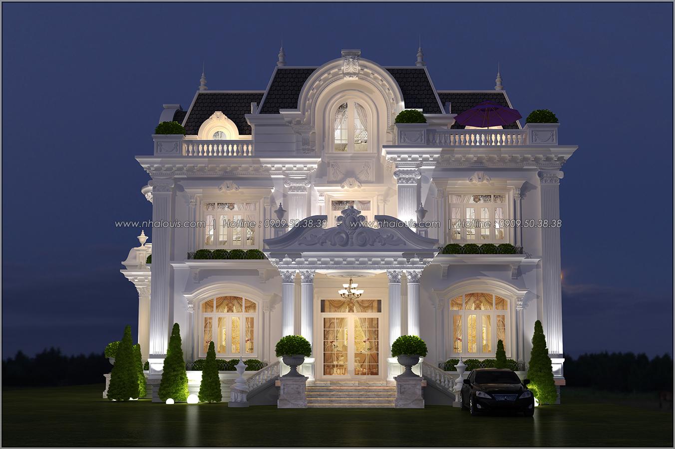 Mê mẩn với thiết kế biệt thự 3 tầng kiểu Pháp hoành tráng tại Biên Hòa - 01