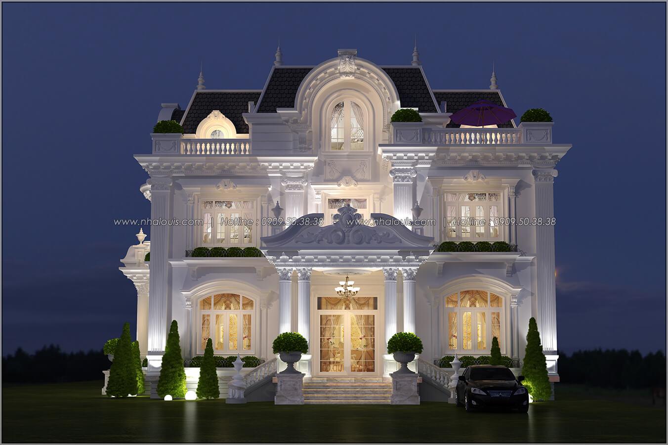 Mặt tiền Mê mẩn với thiết kế biệt thự 3 tầng kiểu Pháp hoành tráng tại Biên Hòa - 01