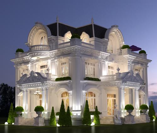 Mê mẩn với thiết kế biệt thự 3 tầng kiểu Pháp hoành tráng tại Biên Hòa