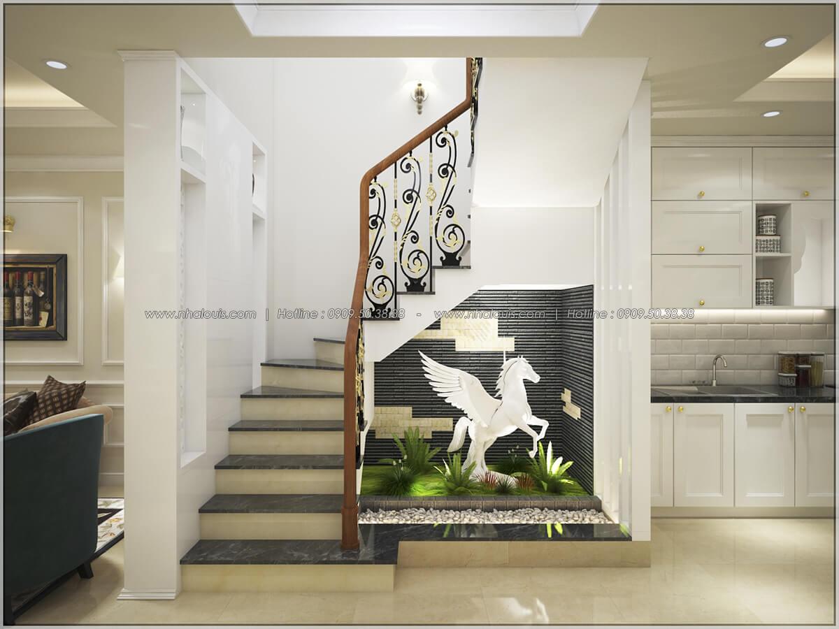 Ngắm nhà mặt tiền 4m đẹp phong cách tân cổ điển tại quận 10