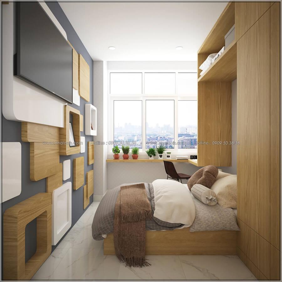 Phòng ngủ thiết kế nội thất chung cư nhỏ tại Quận 5 đẹp tinh tế - 10