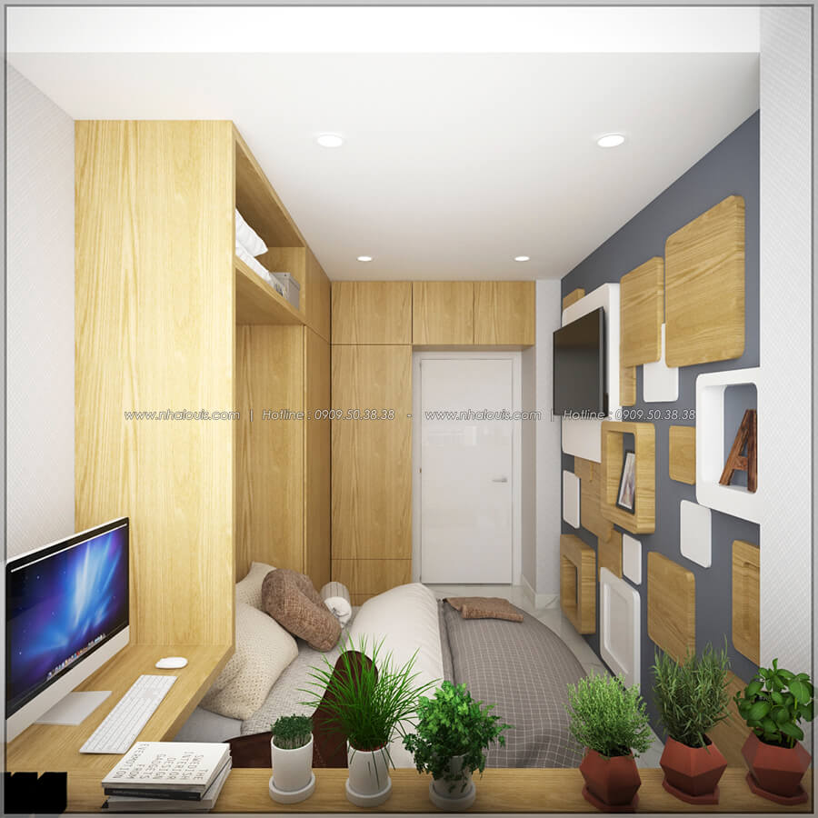 Phòng ngủ thiết kế nội thất chung cư nhỏ tại Quận 5 đẹp tinh tế - 11