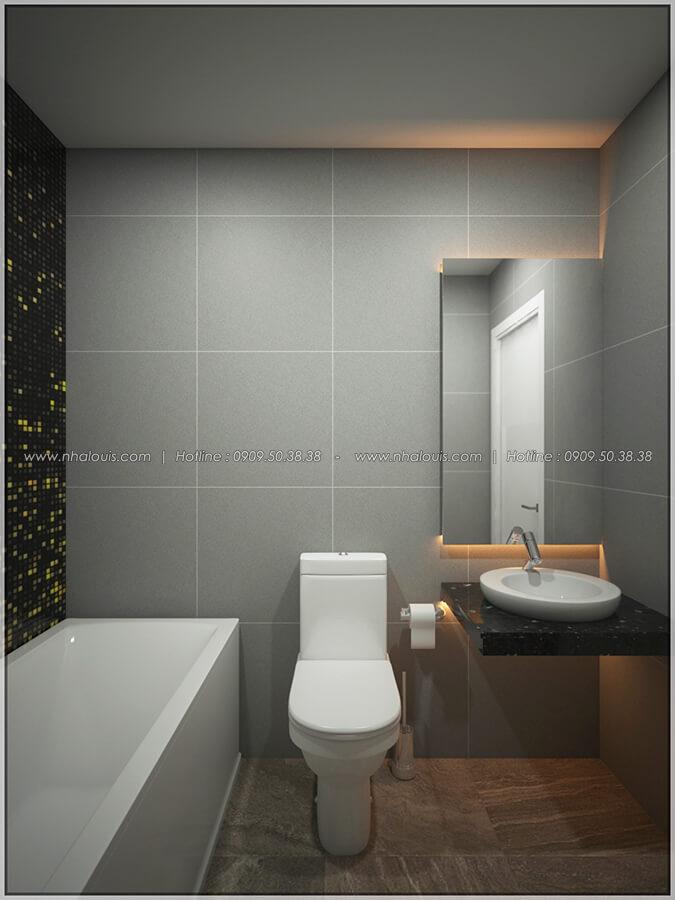 Phòng tắm thiết kế nội thất chung cư nhỏ tại Quận 5 đẹp tinh tế - 13