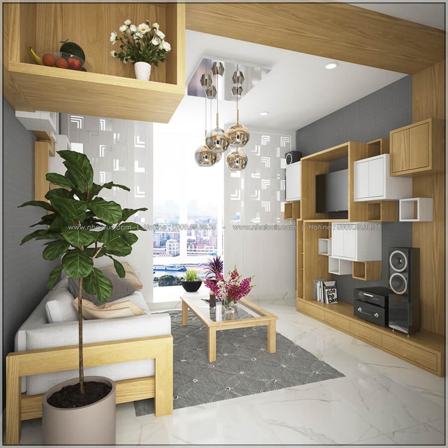 Phòng khách Ngắm nhìn thiết kế nội thất chung cư nhỏ tại Quận 5 đẹp tinh tế - 3
