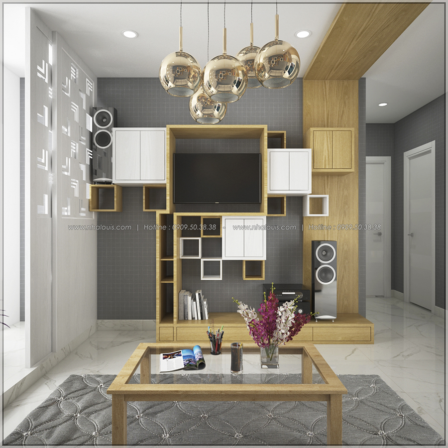 Ngắm nhìn thiết kế nội thất chung cư nhỏ tại Quận 5 đẹp tinh tế - 4