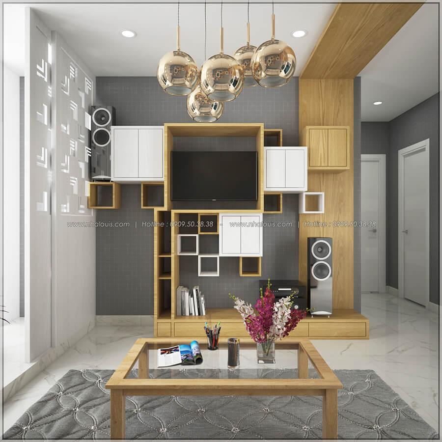 Phòng khách thiết kế nội thất chung cư nhỏ tại Quận 5 đẹp tinh tế - 4