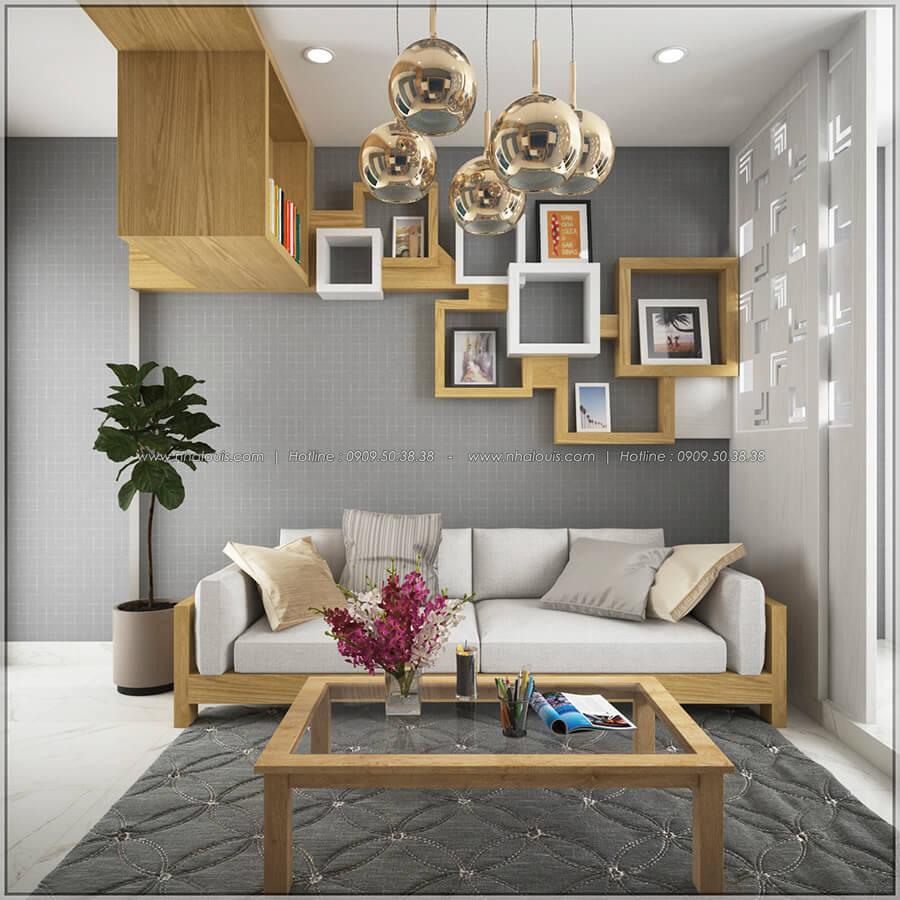 Phòng khách thiết kế nội thất chung cư nhỏ tại Quận 5 đẹp tinh tế - 5