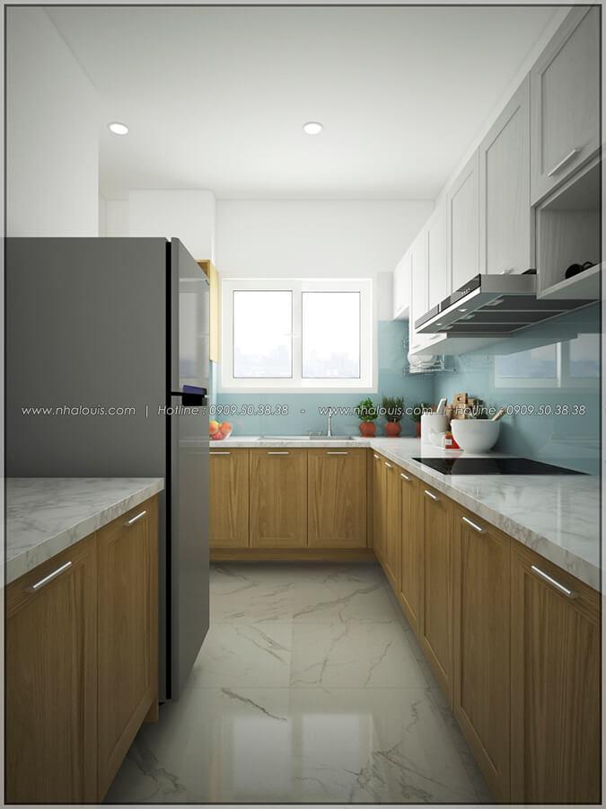 Phòng bếp thiết kế nội thất chung cư nhỏ tại Quận 5 đẹp tinh tế - 6