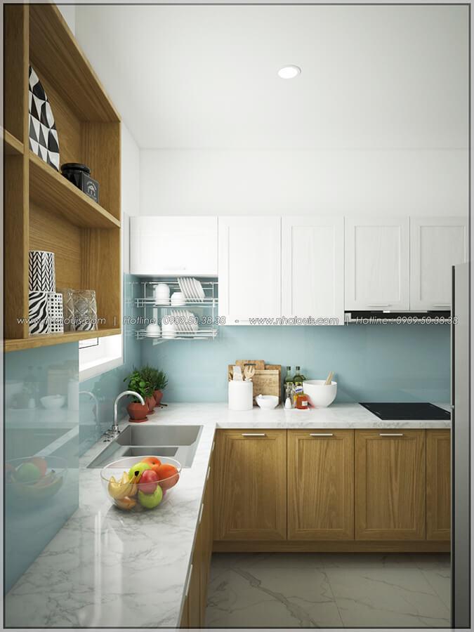 Phòng bếp thiết kế nội thất chung cư nhỏ tại Quận 5 đẹp tinh tế - 7
