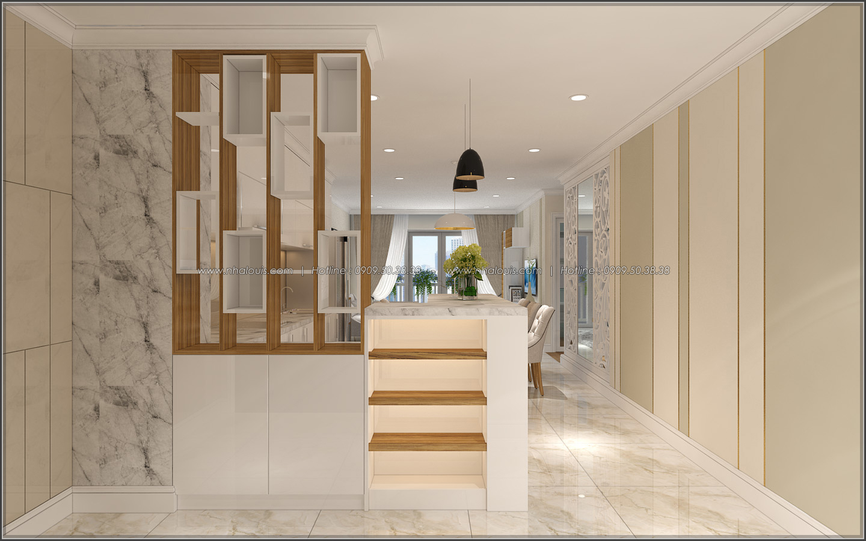 Sảnh trước thiết kế nội thất căn hộ Sunrise City đẹp sang trọng và tinh tế - 01